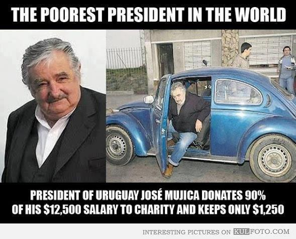 The poorest president in the world