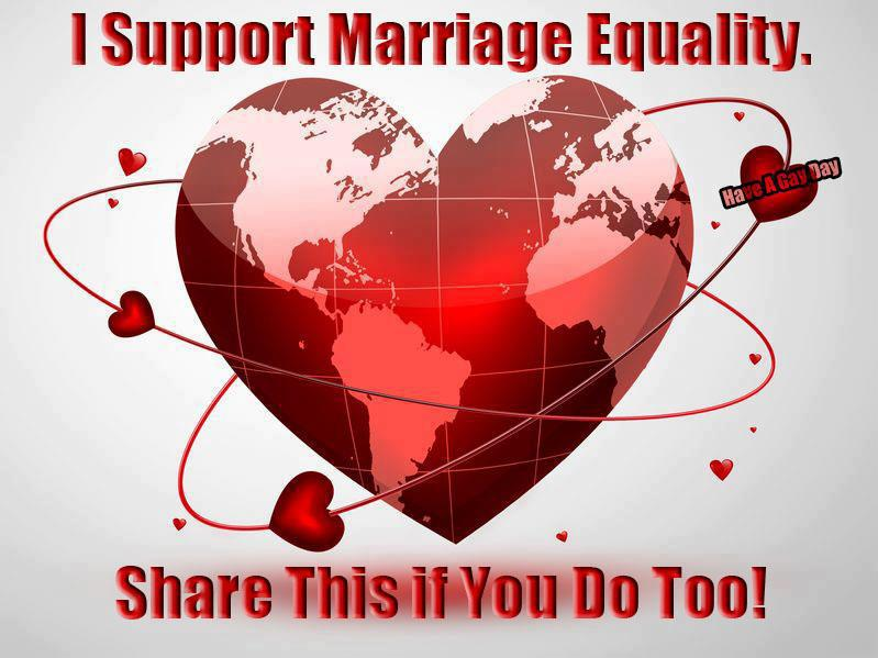 support marriage equality for gays