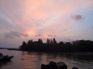 sunset sky ubin