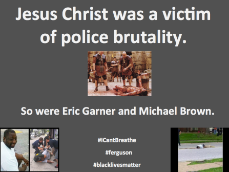 Jesus Christ - victim of police brutality